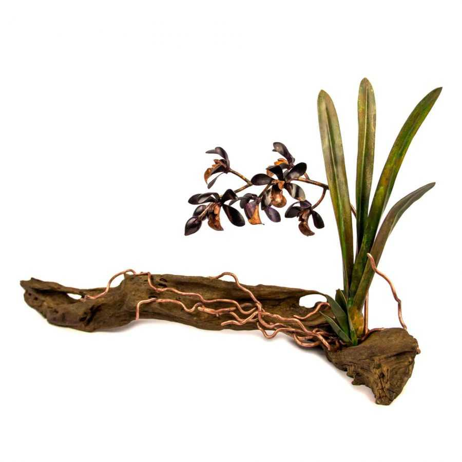 Deep Purple Cymbidium Orchid #05 – SOLD