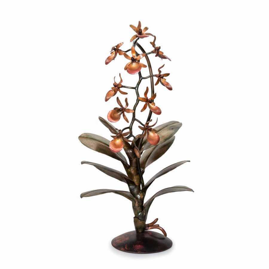Coral cymbidium orchid #216